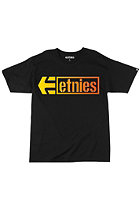 ETNIES Stencil Box S/S T-Shirt black/yellow