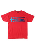 ETNIES Stencil Box S/S T-Shirt red/blue