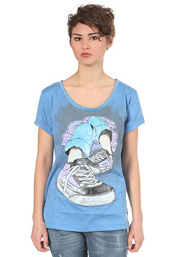 ETNIES Womens Chillaxin Boyfriend S/S T-Shirt blue/heather