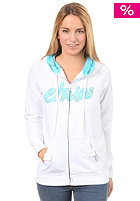 ETNIES Womens Script Fill Hooded Zip Sweat white
