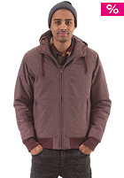 EZEKIEL Emmett Hooded Zip Sweat deep wine