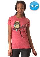 EZEKIEL Womens Fly Right Basic S/S T-Shirt heather red