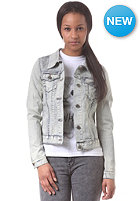 EZEKIEL Womens Swan Denim Jacket white spray