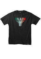 FALLEN Insignia S/S T-Shirt black/emerald fade