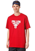 FALLEN Insignia S/S T-Shirt blood red/white