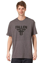 FALLEN Insignia S/S T-Shirt heather charcoal/black