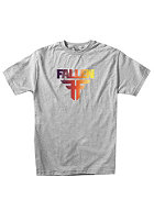 FALLEN Insignia S/S T-Shirt heather grey/red fade