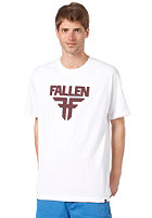 FALLEN Insignia S/S T-Shirt white/cordovan