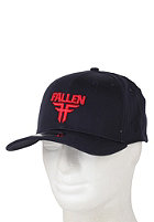 FALLEN Insignia Stretch Fit Cap midnight blue/blood red