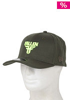 FALLEN Insignia Stretch Fit Cap surplus green/fluro yellow