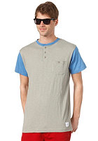 FALLEN Mason S/S T-Shirt heather grey/sky blue