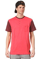 FALLEN Mason S/S T-Shirt washed red/cordovan