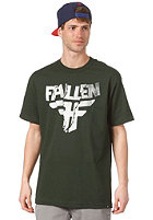 FALLEN Paper Jam S/S T-Shirt emerald green/white