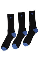 FALLEN Trademark 2 3Pack Socks black/sky blue