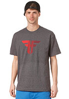 FALLEN Trademark S/S T-Shirt heather charcoal/cordovan fade