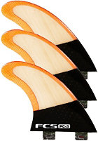 FCS PC-3 Bamboo Tri Fin Set S red