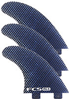 FCS PG-5 Performance Glass Tri Fin Set M carbon/blue