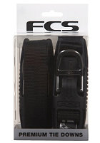 FCS Premium Tie Downs Straps black 