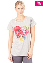FEMI PLEASURE Estera S/S T-Shirt ash grey melange