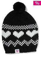 FEMI PLEASURE Heart Beanie pirate black
