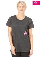 FEMI PLEASURE Womens Amisu S/S T-Shirt dark shadow
