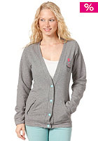 FEMI PLEASURE Womens Hala Sweat Jacket gray mouse