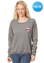 FEMI PLEASURE Womens Laluna Sweatshirt ash grey melange