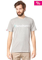 FENCHURCH Word S/S T-Shirt grey/turquoise/white