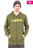 FORUM Werdmark Hooded Zip Sweat militia green