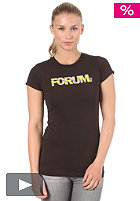 FORUM Womens Corp Wind S/S T-Shirt black to the future