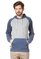 FORVERT Charles Hooded Sweat grey-melange/blue-melange