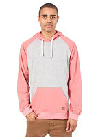 FORVERT Charles Hooded Sweat grey-melange/red-melange