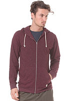 FORVERT Edinburgh Hooded Zip Sweat burgundy