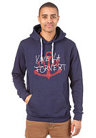 FORVERT Kinski Hooded Sweat blue-melange