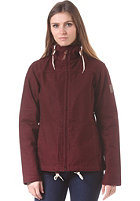 FORVERT Womens Chicago Jacket burgundy