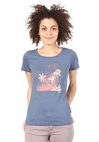 FORVERT Womens Dalia S/S T-Shirt blue-melange