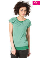 FORVERT Womens Easy S/S Top green-white