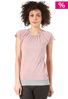FORVERT Womens Easy S/S Top grey-red