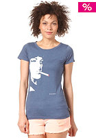 FORVERT Womens Habit S/S T-Shirt blue/melange
