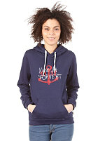 FORVERT Womens Pola Hooded Sweat blue-melange