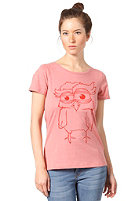FORVERT Womens X-Eule S/S T-Shirt red-melange