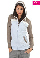 FOURSQUARE Womens Stripe Wipe Hooded Zip Sweat persian lilac