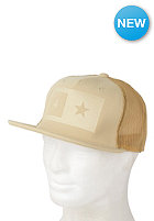 FOURSTAR Embossed Bar Snapback Cap camel
