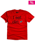 FOX Eat Dirt S/S T-Shirt scarlet