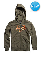 FOX Kids Tract Hooded Zip Sweat dark fatigue