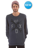 FOX Phenom Crew Fleece heather navy