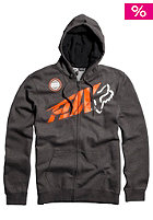 FOX Riptide Superior Front Zip Hooded Fleece charcoal heather