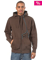 FOX RPM Hooded Zip Sweat dark brown