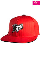 FOX VIP Stripe Fitted Hat red