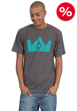 FRENDS Crown Logo S/S T-Shirt grey/teal